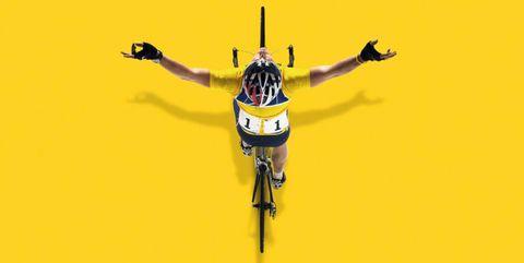 Yellow, Vehicle, Bicycle, Freestyle motocross, Bicycle handlebar, Racing, Sports, Sports equipment,