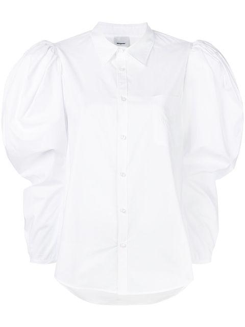 Clothing, White, Shirt, Sleeve, Collar, Button, Blouse, Top, Dress shirt, Outerwear,