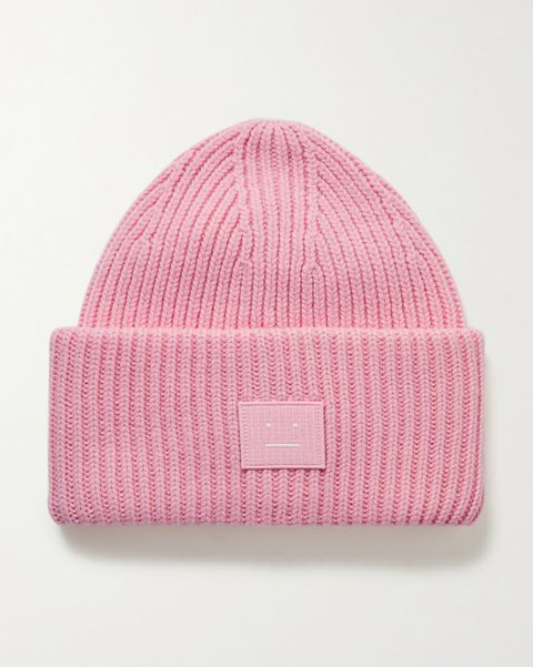 acne studios 貼花螺紋羊毛毛帽