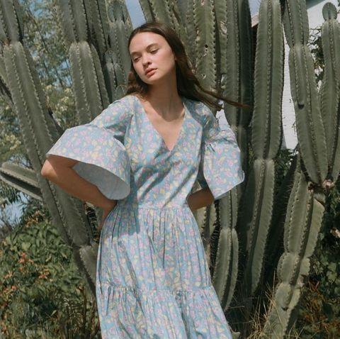 Clothing, Tree, Dress, Fashion, Photography, Grass, Long hair, Plant, Photo shoot, Robe,