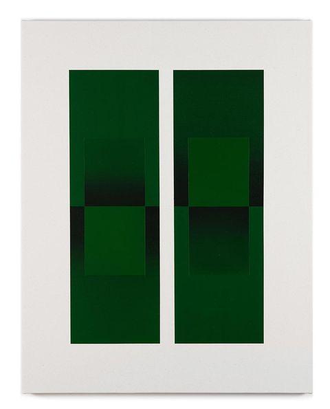 cuadro pintura verde senem oezdogan
