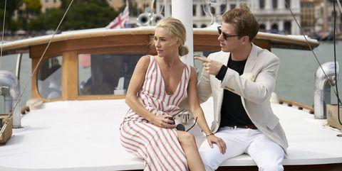 Photograph, Luxury yacht, Vehicle, Luxury vehicle, Fashion, Yacht, Car, Vacation, Summer, Classic,
