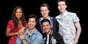 Dylan Minnette, Alisha Boe, Christian Navarro, Devin Druid & Ross Butler of 13 Reasons Why