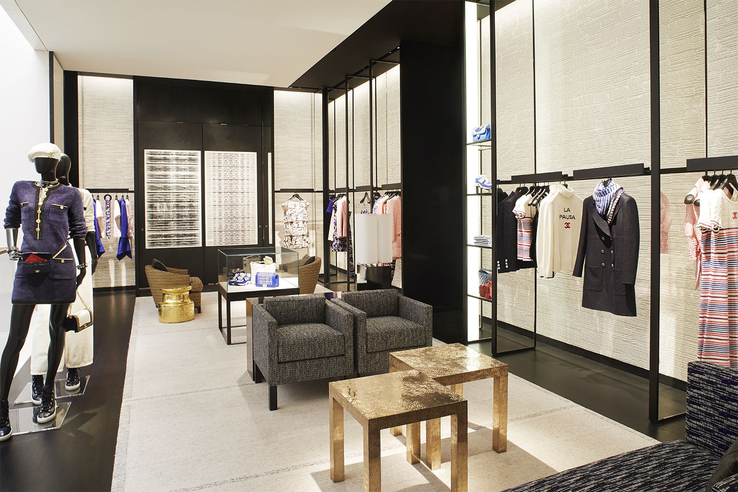The store will house two Chanel's ready-to-wear salons including a section specifically for knitwear.