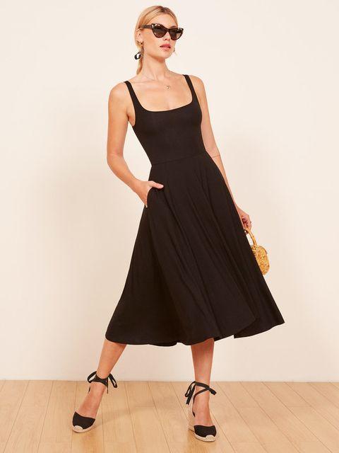 Clothing, Fashion model, Dress, Black, Shoulder, Fashion, Day dress, Cocktail dress, Neck, Little black dress,