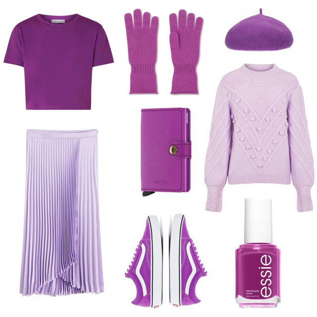 Violet, Purple, Clothing, Pink, Lilac, Outerwear, Material property, Magenta, Illustration, Fashion illustration,
