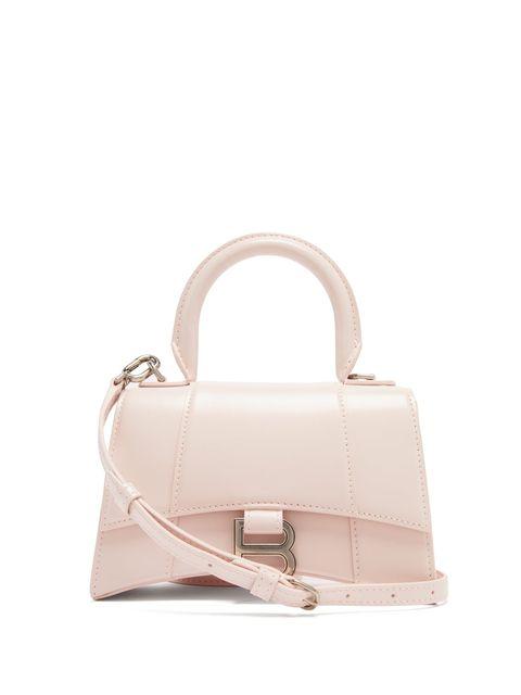 Handbag, Bag, Shoulder bag, Fashion accessory, Pink, Beige, Leather, Material property, Kelly bag, Satchel,