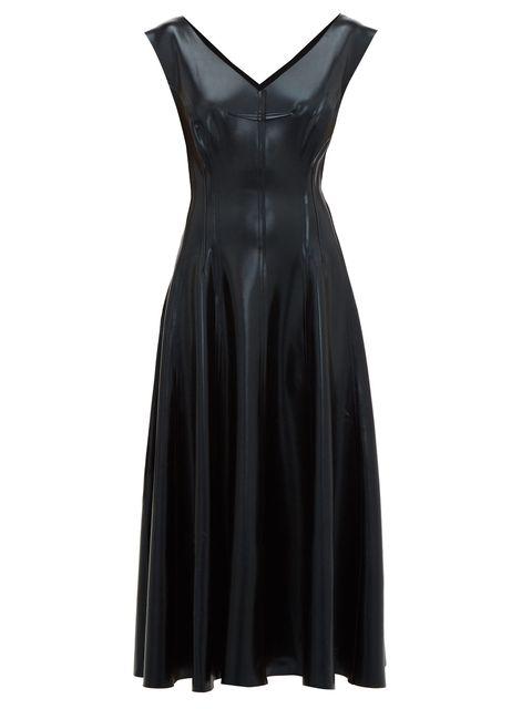 Clothing, Dress, Cocktail dress, Black, Day dress, Little black dress, Formal wear, A-line, Neck, Satin,