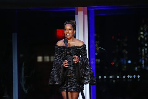new york, new york   june 22 regina king speaks onstage at bring on the light the 2021 moth ball honoring regina king and kemp powers at spring studios on june 22, 2021 in new york city photo by bennett raglingetty images for the moth