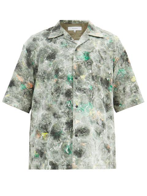 sasquatchfabrix(サスクワッチファブリックス)のグリーン「ノリハガシ」シャツ