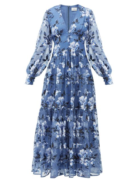 Clothing, Blue, Dress, Day dress, Sleeve, Robe, Outerwear, Denim, Gown, Pattern,