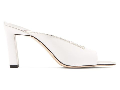 Footwear, Slingback, Court shoe, Shoe, High heels, Beige, Leather, Sandal,