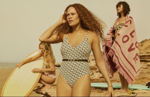 Clothing, Bikini, Swimwear, Fashion, Summer, One-piece swimsuit, Monokini, Photo shoot, Fashion model, Model,