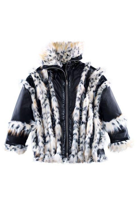 Clothing, Outerwear, White, Fur, Hood, Jacket, Sleeve, Hoodie, Coat, Fur clothing,