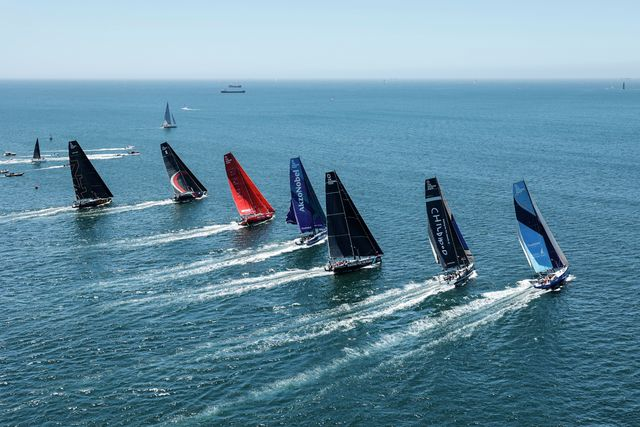 second leg of the ocean race europe, from cascais, portugal, to alicante, spain