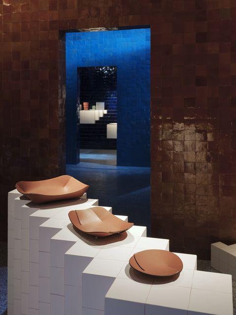 Interior design, Room, Architecture, Design, Material property, Tile, Floor, Ceramic, Flooring, Table,