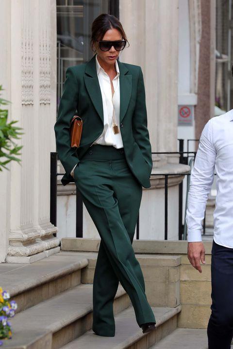 Suit, Clothing, Formal wear, Blazer, Outerwear, Green, Pantsuit, Tuxedo, Fashion, Jacket,