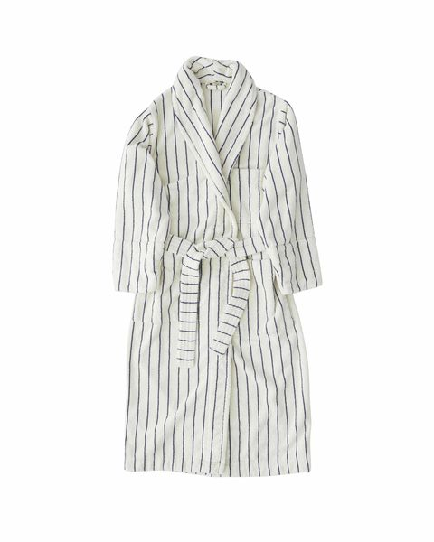 tekla striped dressing gown
