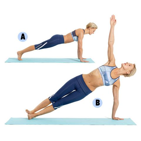 1 Plank To Side