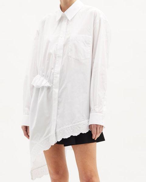 matches fashion simone rocha white frill shirt