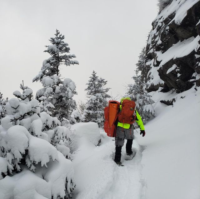new hampshire fish and game search  rescue on a rescue effort for two trail runners who were stuck off trail in the snow