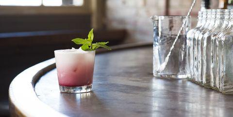 Drink, Non-alcoholic beverage, Food, Cocktail garnish, Alcoholic beverage, Batida, Shrub, Restaurant, Cocktail, Distilled beverage,