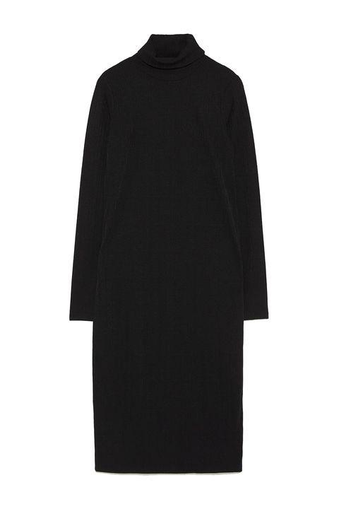 Zara vestidos fiesta negros