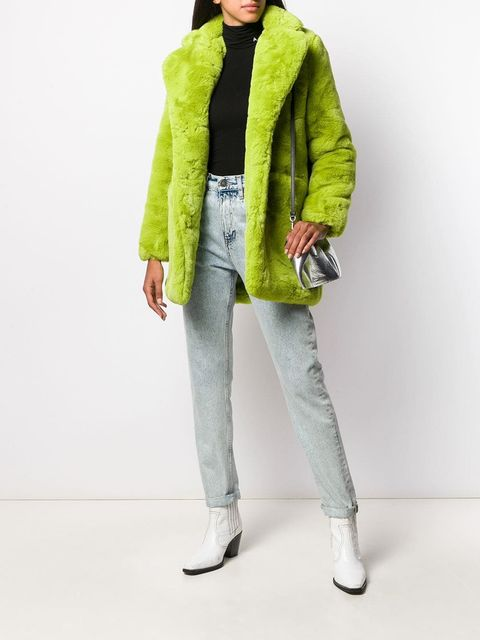 Clothing, Green, Fur, Outerwear, Coat, Fashion, Jacket, Overcoat, Hood, Parka,