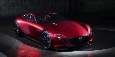 Land vehicle, Vehicle, Car, Automotive design, Mazda, Sports car, Concept car, Performance car, Auto show, City car,