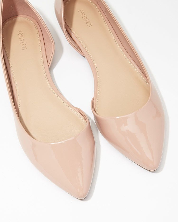 faux patent leather shoes