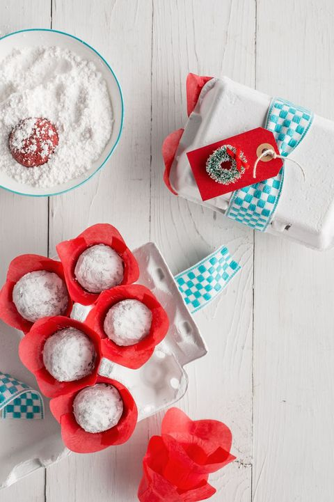 Snowball Cookies Red Velvet Snowballs