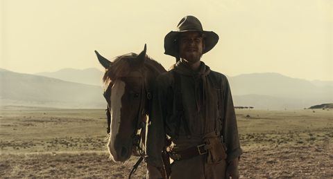 """jesse luken is """"drover"""" in the ballad of buster scruggs, a film by joel and ethan coen"""