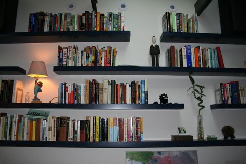 Shelving, Shelf, Bookcase, Furniture, Book, Collection, Wall, Publication, Room, Building,
