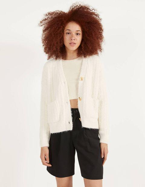 Clothing, White, Black, Outerwear, Shoulder, Sleeve, Cardigan, Neck, Jacket, Fashion,
