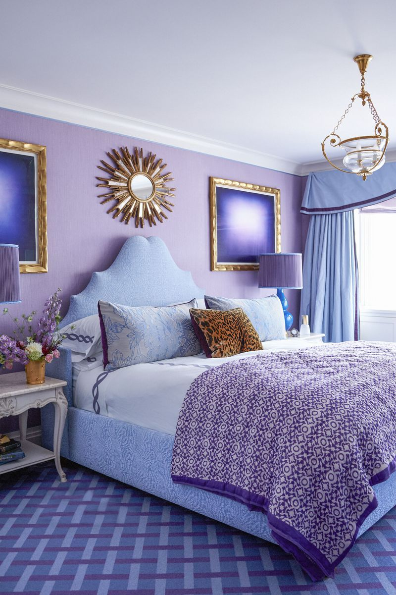 25 purple room decorating ideas how to use purple walls decor rh elledecor com purple decor ideas purple walls bedroom ideas