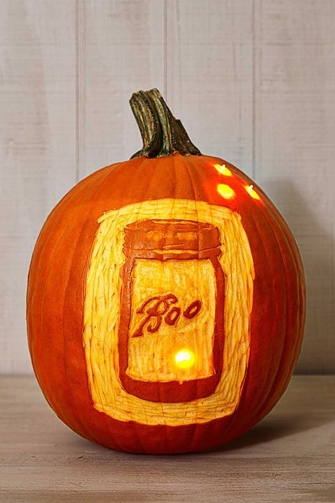 Pumpkin Carving Ideas Mason Jar