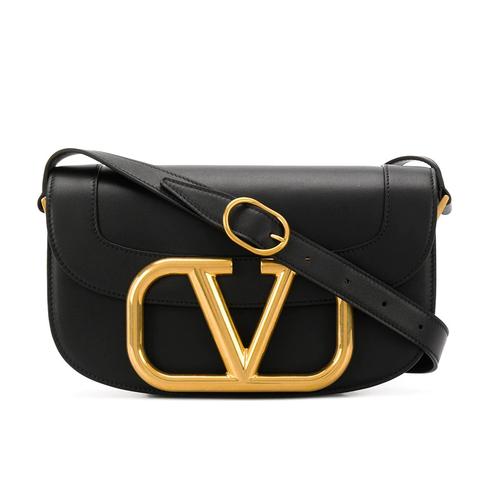 valentino garavani 黑色logo包包
