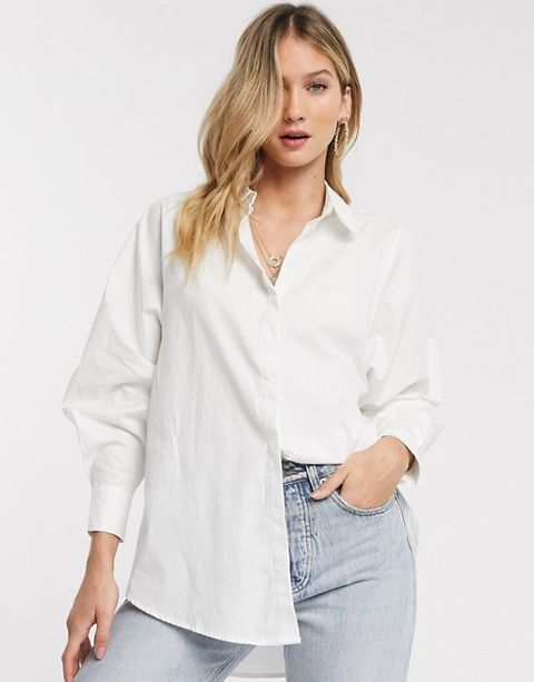 Clothing, White, Sleeve, Shirt, Neck, Collar, Blouse, Top, Shoulder, Button,