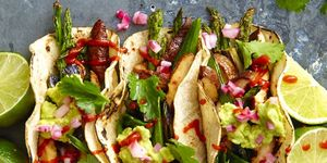 Vegan Recipes -  Grilled Asparagus and Shiitake Tacos