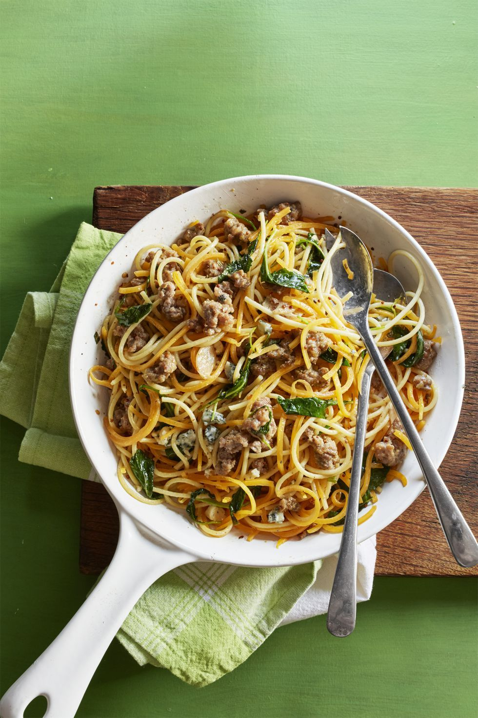 Butternut Squash Spaghetti with Sausage and Sage