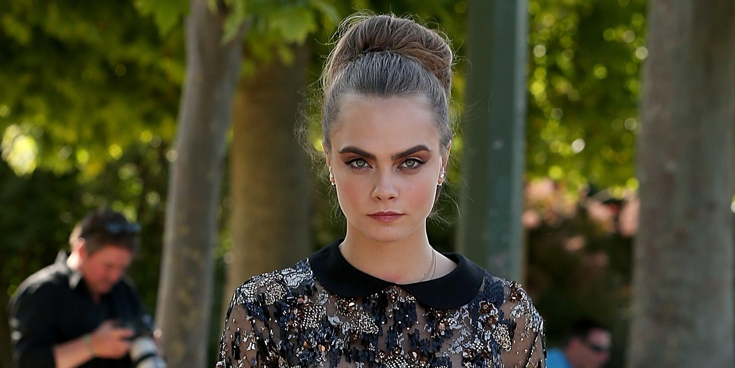 Cara Delevingne Just Got a Super-Creepy Set of Eyes Tattooed on the Back of Her Neck