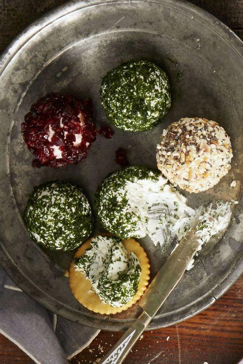 christmas dinner ideas   trio of cheese balls