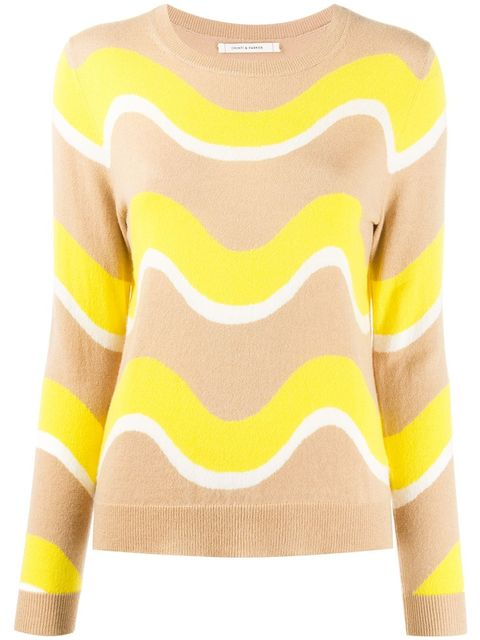 Clothing, Yellow, Sweater, Sleeve, Neck, Outerwear, Crop top, Top, Shoulder, Jersey,