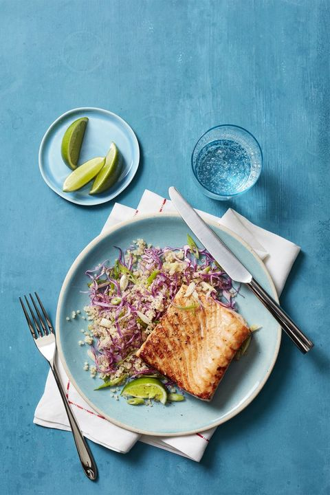 salmon-recipes - honey-spiced-salmon-with-quinoa-salad