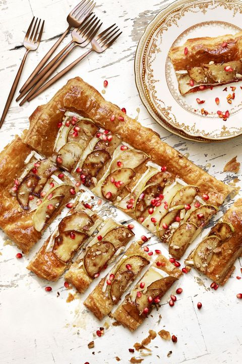 brie and pomegranate tart