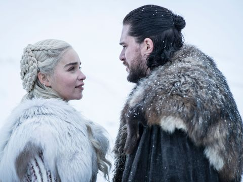 daenerys y john nieve en la temporada final de 'juego de tronos'