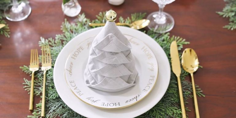 & 11 Fancy Napkin Folding Ideas - How to Fold Table Napkins for Christmas