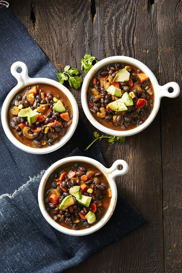 smoky vegan black bean soup - thanksgiving crock pot recipes