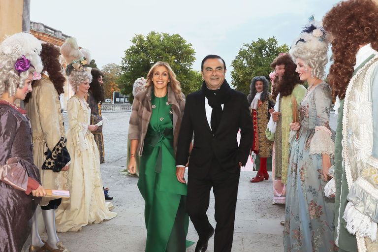 Carole and Carlos Ghosn at their fall 2016 wedding in Versailles.