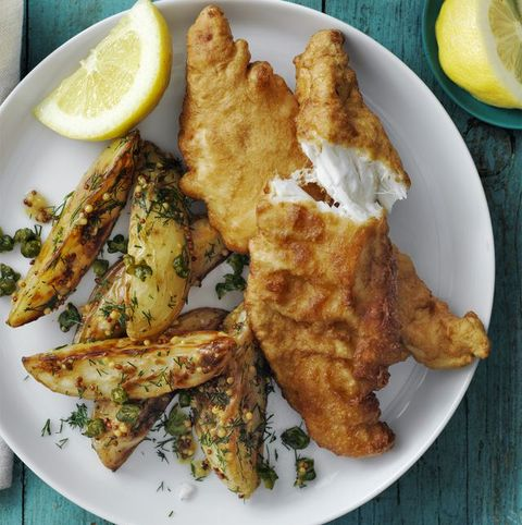 Beer Battered Cod and Roasted Potato Salad — Best Seafood Recipes